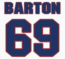 National football player Kirk Barton jersey 69 by imsport