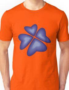 blue heart flower Unisex T-Shirt