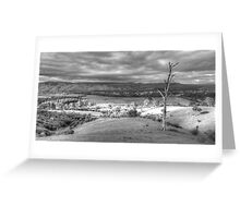 Still got the view BW Greeting Card