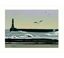 Roker Pier, Sunderland. Art Print