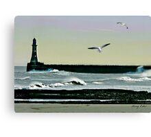 Roker Pier, Sunderland. Canvas Print