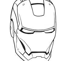 Iron Man face by Topi