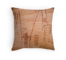 Ancient Rock Art Throw Pillow