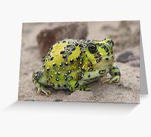 Crucifix Toad Greeting Card