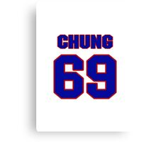 National football player Eugene Chung jersey 69 Canvas Print