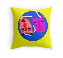 Blue moon masks Throw Pillow