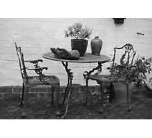 table and chairs Photographic Print