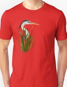 Blue Herons Head In Cattails T-Shirt