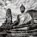 Ayutthaya Sitting Buddha 2.0 by Nicholas Richardson