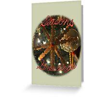 Season's Greetings Snowflake Greeting Card