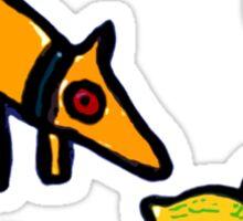 DOG ANFD LEMON ART  Sticker