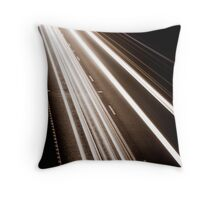Traffic motion Throw Pillow