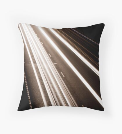 Traffic motion Throw Pillow