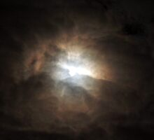 Moonlight Thru the Clouds (lunar eclipse 2008) by mikrin