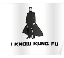 Matrix : I know Kung Fu Poster