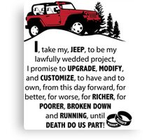 Jeep Wedding Vows Canvas Print