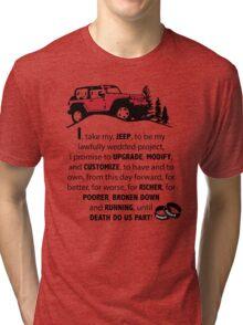 Jeep Wedding Vows Tri-blend T-Shirt