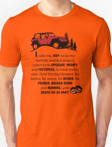 Jeep Wedding Vows Unisex T-Shirt