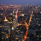 New York At Night by JonM
