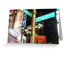 Sign of the Times (Square) Greeting Card