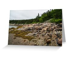 Low Tide - Walking on the Bottom of Saint Lawrence River Greeting Card