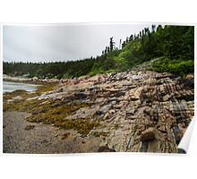 Low Tide - Walking on the Bottom of Saint Lawrence River Poster