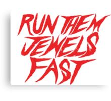 Run the Jewels Run Them Jewels Fast Canvas Print