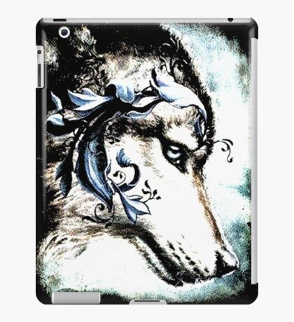 Wolf with Blue Eyes iPad Case/Skin