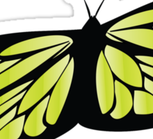 Colored butterfy 2 Sticker