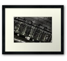 Batteries not included Framed Print