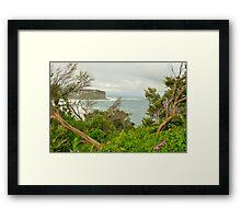 """Split View"" - Bungan Beach , Sydney NSW Australia Framed Print"