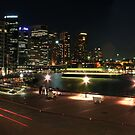 Sydney Harbout Night Skyline by MiImages