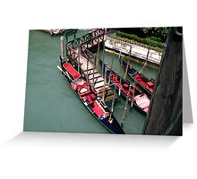 Gondolas Greeting Card