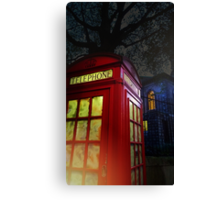 London Tardis Canvas Print