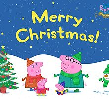 Peppa Pig Christmas Card by Russ Jericho