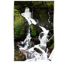 Woodland waterfall Poster