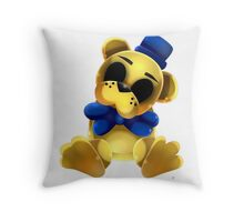 Chibi Golden Freddy Bear Throw Pillow