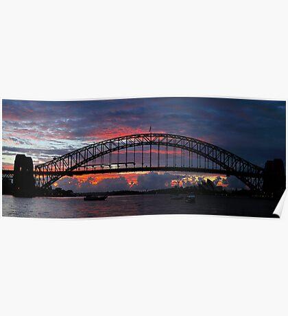 Turmoil - Sydney Harbour, Sydney Australia Poster