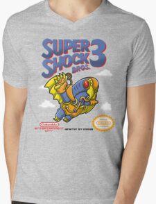 Super Shock Bros 3 Mens V-Neck T-Shirt