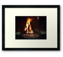 Open Fire - Wilber Farmhouse Framed Print