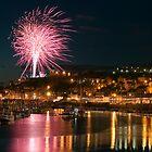 Fireworks at Whitby Regatta by Stuart Brown