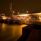 Tees barrage bridge at night by Stuart Brown