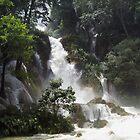 Kwang Si Falls by Ian Batterbee
