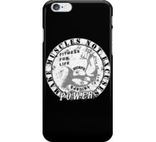 Make Muscles Not Excuses iPhone Case/Skin