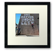 CCTV by banksy Framed Print