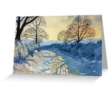 Winter Walk on Wykeham Road Greeting Card