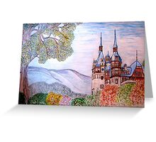 Peles Castle, Prahova County, Romania - all products bar duvet Greeting Card