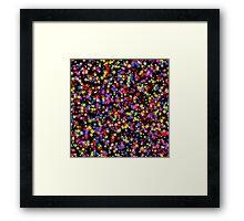 Colorful stars pattern Framed Print