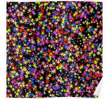 Colorful stars pattern Poster