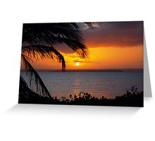 AFRICAN SUNSET - MOZAMBIQUE Greeting Card